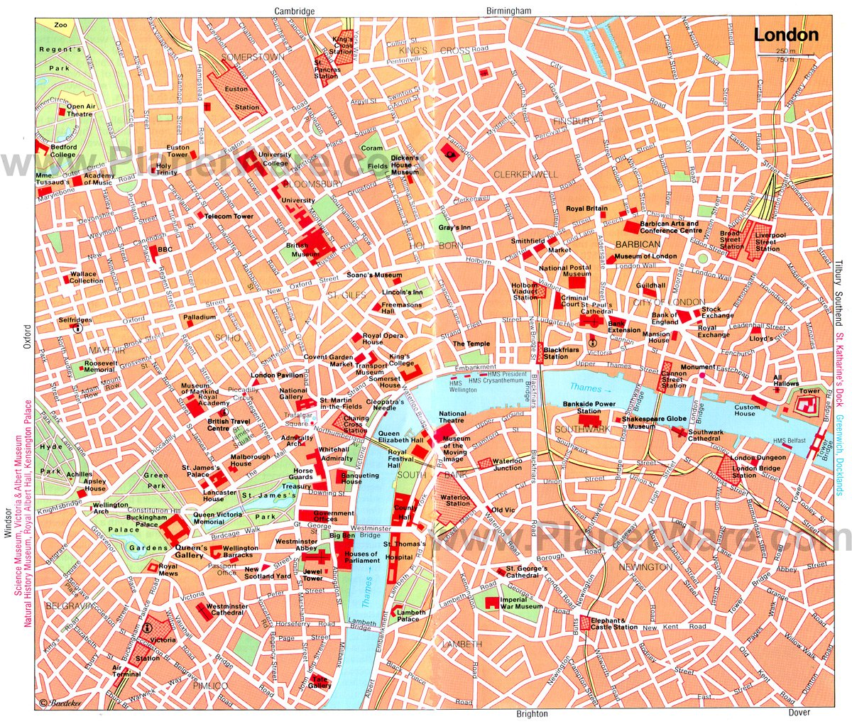 London Map – Tourist Attractions